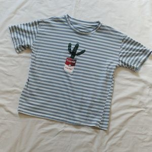 Campbell's striped top